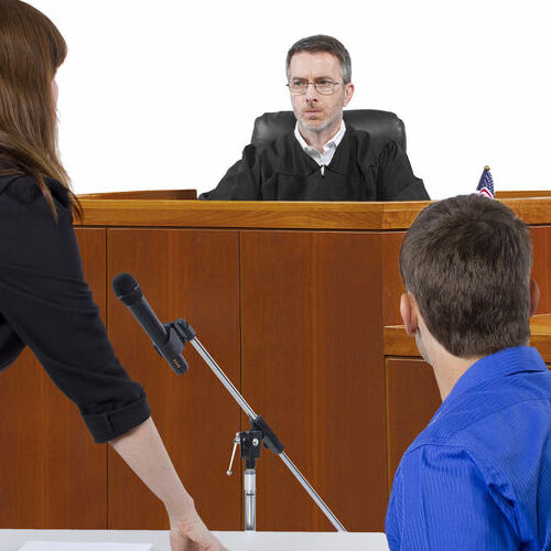 A Defendant at a Bail Hearing.