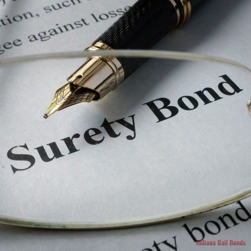 close up of surety bond document with glasses and pen